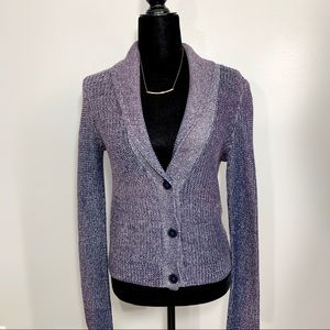 American Eagle Knit Multi-Color Cardigan Sweater